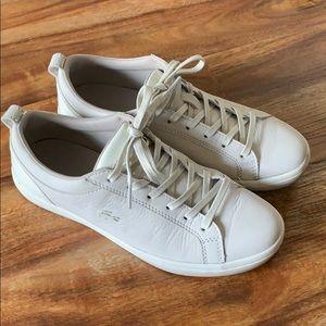 Lacoste Women's Off-White leather sneaker size 7.5